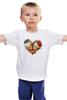 "Детская футболка ""Skull Art"" - skull, череп, сердце, heart, цветы"