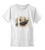 """Детская футболка классическая унисекс """"Car Vintage"""" - мужу, ретро, белый, мужчина, другу, машина, винтаж, светлый"""