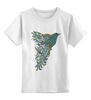 """Детская футболка классическая унисекс """"Lighthly"""" - прикол, авторские майки, животные, птица, рисунок"""