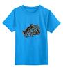 """Детская футболка классическая унисекс """"гепард"""" - хищник, animal, predator, cheetah, feline"""