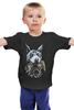 "Детская футболка ""Доберман и корона..."" - корона, doberman, доберман, доберманскороной"