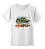 """Детская футболка классическая унисекс """"Танк и пехота"""" - победа, 9 мая, танк, пехота, наступление"""