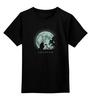 """Детская футболка классическая унисекс """"Прогулка под луной"""" - аниме, луна, тоторо, мой сосед тоторо"""