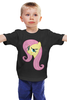 "Детская футболка ""Fluttershy Appoved"" - арт, pony, mlp, пони, fluttershy"