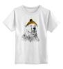 """Детская футболка классическая унисекс """"Белый медведь"""" - белый медведь"""
