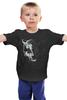 """Детская футболка классическая унисекс """"Волчий оскал"""" - волк, оскал, wolf, клыки"""