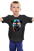 """Детская футболка классическая унисекс """"DJ Мопс"""" - музыка, dj, pug, диджей, мопс"""