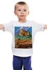 "Детская футболка классическая унисекс ""ретро плакат"" - ретро, америка, природа, горы, плакат"