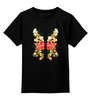 """Детская футболка классическая унисекс """"Цветочная бабочка"""" - бабочка, цветы, узор"""