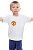"Детская футболка ""Фуболка для фанатов ""Манчестер Юнайтед"""" - футбол, спорт, эмблема, манчестер юнайтед"