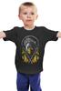 """Детская футболка классическая унисекс """"Скорпион (Мортал Комбат)"""" - скорпион, mortal kombat, смертельная битва, scorpion, мк"""