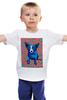 """Детская футболка """"Синий Пес"""" - любовь, сердца, собака, синий пес, blue dog"""
