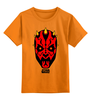 """Детская футболка классическая унисекс """"star wars"""" - star wars, dark side, звёздные войны, darth maul"""
