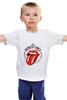 """Детская футболка классическая унисекс """"The rolling stones"""" - рок-н-ролл, the rolling stones, роллинг стоунз, stones"""