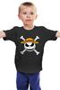 """Детская футболка классическая унисекс """"Кошмар перед Рождеством"""" - skull, череп, кошмар перед рождеством, the nightmare before christmas, tim burton"""