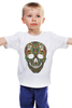 """Детская футболка классическая унисекс """"Череп"""" - skull, череп, узор, сова, паттерн, символ, дудл"""