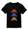 """Детская футболка классическая унисекс """"Space invaders                  """" - space invaders, пиксель арт, pixel art"""