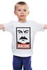 """Детская футболка классическая унисекс """"Bacon (Obey)"""" - ron swanson, бекон, парки и зоны отдыха, рон свонсон, bacon"""