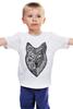 """Детская футболка классическая унисекс """"волк (wolf)"""" - графика, волк, wolf, дотворк"""