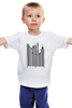 """Детская футболка классическая унисекс """"Сити-код"""" - арт, город, дизайн, city, код, barcode, урбанизм"""