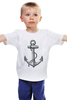 """Детская футболка """"Держись сильнее за якорь"""" - якорь, anchor, sailor, флот, гребенщиков, бг, держись сильнее за якорь"""