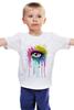 """Детская футболка классическая унисекс """"Глаз Алмаз"""" - splash, арт, авторские майки, color, eye"""