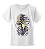 """Детская футболка классическая унисекс """"Синицы в клетке"""" - birds, синица, bones, cage, rib cage, грудная клетка"""