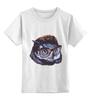 """Детская футболка классическая унисекс """"OWL in glasses"""" - животные, птицы, сова"""