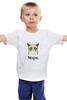 """Детская футболка классическая унисекс """"Сердитый котик / Grumpy Cat (Пиксельный)"""" - кот, котэ, grumpy, grumpy cat, сердитый кот, унылый кот, грампи, грумпи"""
