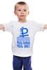 """Детская футболка классическая унисекс """"Плавающий курс"""" - рубль, плавание, моряк, бескозырка"""