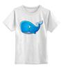 """Детская футболка классическая унисекс """"Голубой морской кит-кашалот"""""""