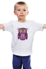 """Детская футболка классическая унисекс """"Cова, owl"""" - сова, совушка, owl, совенок"""
