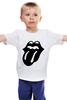 """Детская футболка классическая унисекс """"Rolling Stones (Black)"""" - rolling stones"""