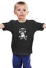 """Детская футболка классическая унисекс """"Череп"""" - череп, black and white, мужская, кости, парню"""
