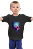 """Детская футболка классическая унисекс """"Swag cat"""" - кот, котенок, cat, космос"""