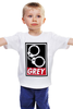 """Детская футболка классическая унисекс """"50 оттенков серого (Fifty Shades of Grey)"""" - sex, бдсм, obey, наручники, 50 оттенков серого"""