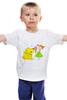 """Детская футболка классическая унисекс """"Дружба крепкая"""" - лето, дружба, собака, ребенку, мороженое"""
