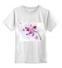 """Детская футболка классическая унисекс """"Розовая орхидея"""" - акварель, орхидея, розовый цветы"""