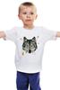 """Детская футболка классическая унисекс """"Волк (Wolf)"""" - pixel, волк, wolf, полигоны, polygon"""