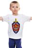 """Детская футболка классическая унисекс """"КГБ """" - звезда, ссср, кгб, эмблемма, щит и меч"""