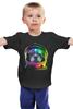 """Детская футболка """"Собака Космонавт"""" - космос, собака, абстракция, галактика, космонавт"""