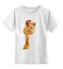 """Детская футболка классическая унисекс """"Гарфилд"""" - кот, рыжий, котейка, гарфилд, garfield"""