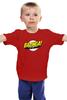 """Детская футболка классическая унисекс """"Шелдон Купер - Bazinga"""" - the big bang theory, bazinga, шелдон, теория большого взрыва, sheldon cooper"""