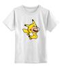 """Детская футболка классическая унисекс """"Mario x Pokemon"""" - пародия, покемон, пикачу, марио, picachu"""