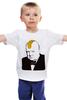 "Детская футболка классическая унисекс """"Британец"""" - прикол, punk, англия, banksy, бэнкси, winston churchill, уинстон черчилль"