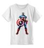 """Детская футболка классическая унисекс """"Капитан Америка / Captain America"""" - рисунок, капитан америка, captain america, knoart"""