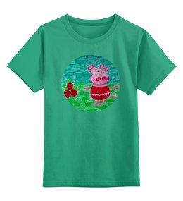 """Детская футболка классическая унисекс """"Свинка"""" - свинка"""