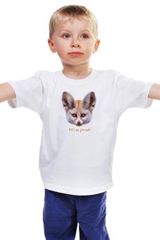 """Детская футболка классическая унисекс """"Давай дружить"""" - дружба, лисичка, фенёк"""