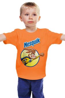 """Детская футболка """"Несквик """" - кролик, necquik"""