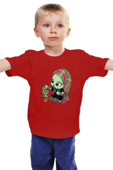 """Детская футболка """"Монстр хай"""" - ведьма, фэнтези, monster high, для девочки, школа монстров"""